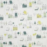 Happy Dreams Fabric Small Village HPDM 8325 73 18 HPDM83257318 By Casadeco